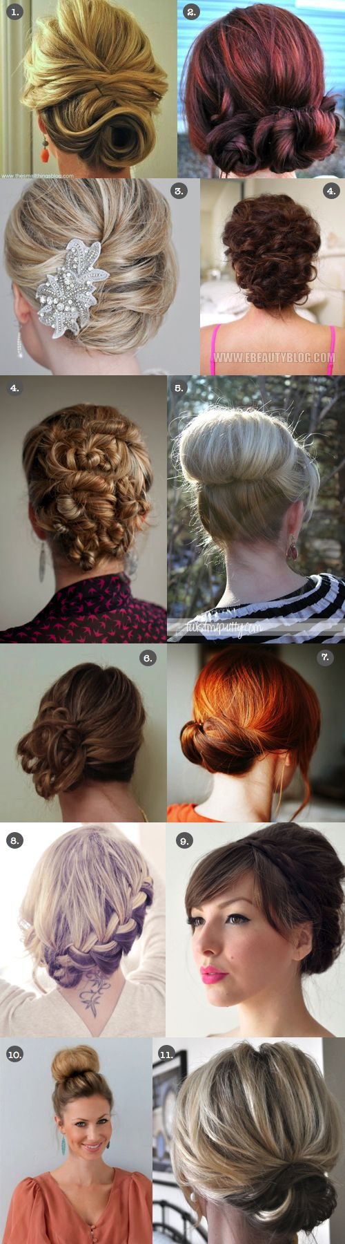 Pinning only for #8.  It can be an any day look & not for a special occasion only. Wedding or Prom Up-dos! Video and/or Picture Tutorials Available!