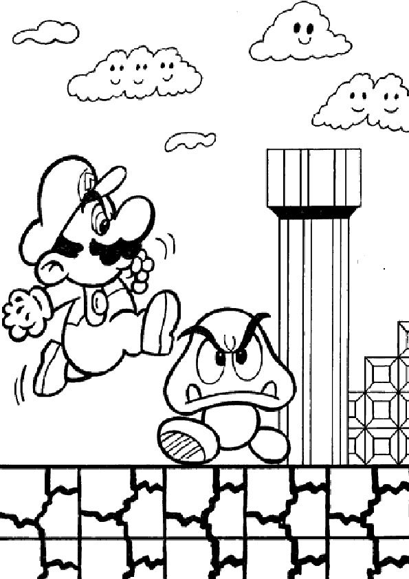 pin auf super mario coloring pages