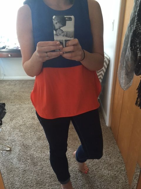 """Wow....I LOVE my 4th Fix!!!! I am a fan of this color block top. My stylist, Jen, picked it off of my """"style"""" Pinterest board. Get your own stylist at Stitch Fix. Click here if interested https://www.stitchfix.com/referral/4665678  #stitchfix #fashion #style #fun"""