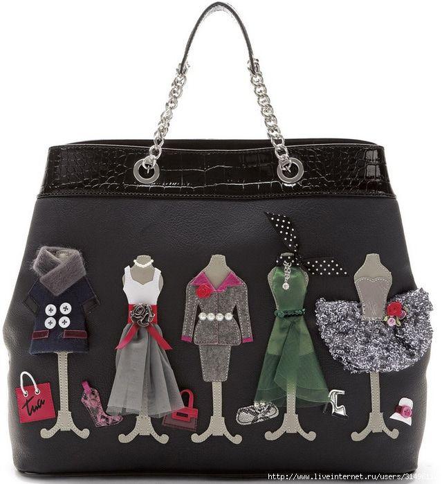 Womens Stickers Tote Bag Black black Braccialini PSadybVb