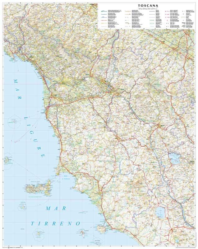 Toscana - Tuscany Road Map.