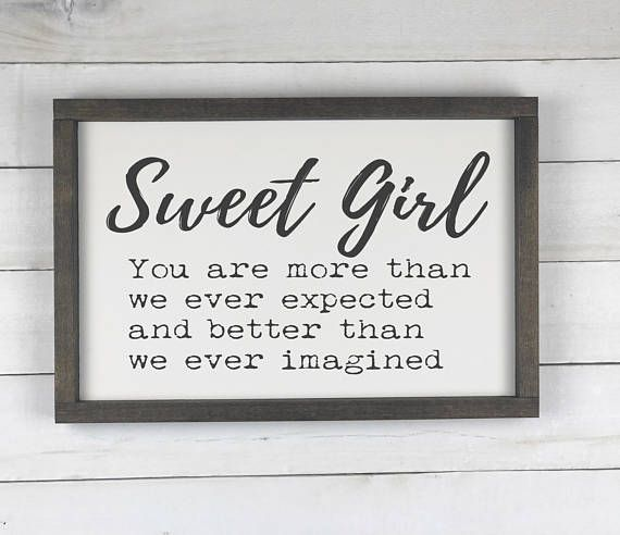 Girl Nursery sign, Baby shower gift, Kids room wood sign, Baby room decor wooden sign, Farmhouse nursery, Rustic Nursery, Wall Decor, Gift _____________________________________________________________________________________________________ Each of our signs are MADE TO ORDER. Your
