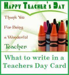 Best 25 Teachers day card message ideas on Pinterest  DIY cards