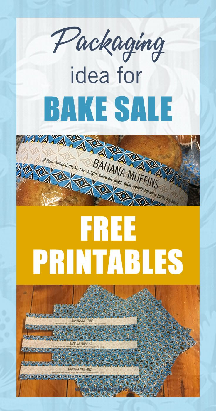 Creative handmade packaging idea for cup cakes or other baked goods for bake sale or street stall display. Free printables so you can make it yourself. #packaging #printables #creative #DIY #craft