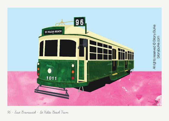 St Kilda Beach - Brunswick - Melbourne Australia Tram Wall Art (50.00 AUD) by BrionyBurke