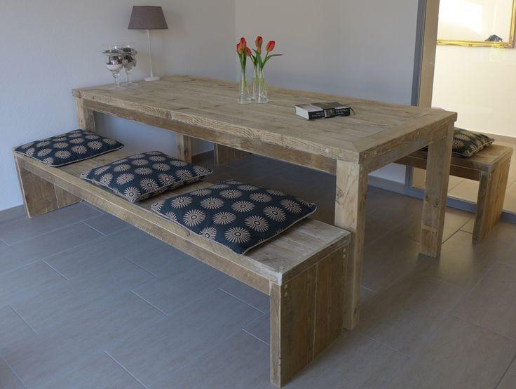 13 best unsere tische aus bauholz images on pinterest. Black Bedroom Furniture Sets. Home Design Ideas