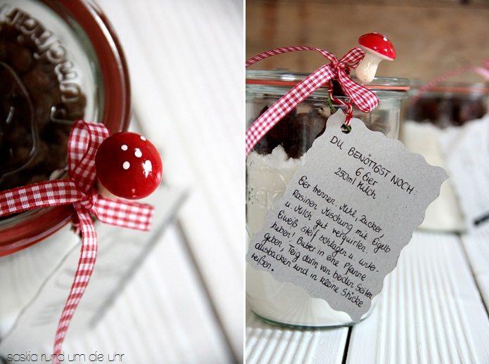 SaskiarundumdieUhr: Kaiserschmarrn im Glas.... Was für eine tolle Geschenk-Idee!!! <3