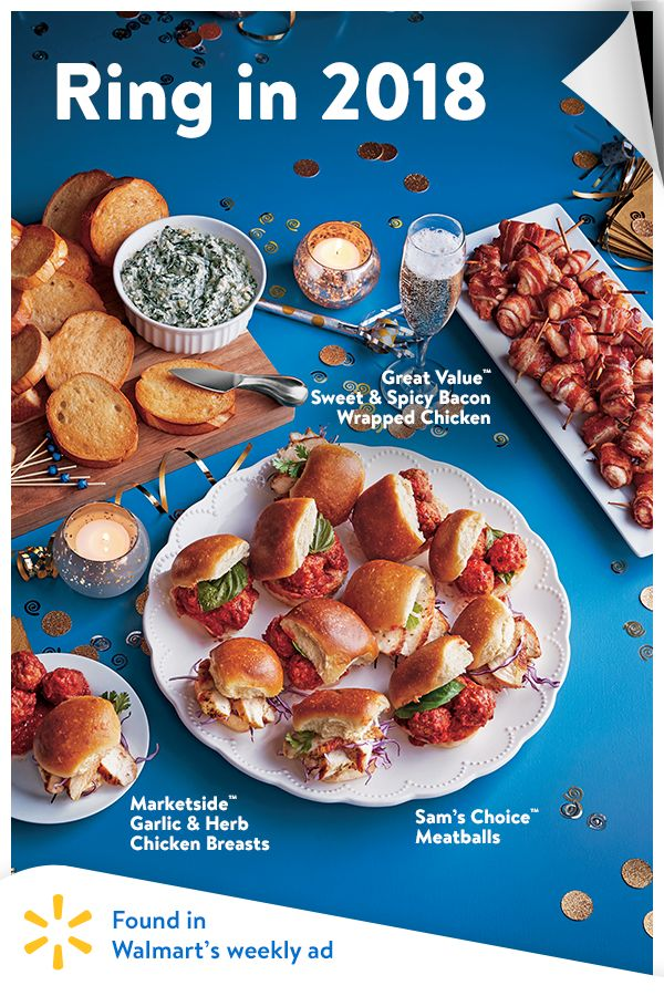 The countdown is on! Toast the New Year with tasty food from Walmart's weekly ad.