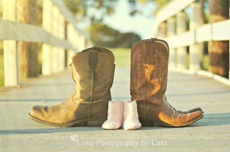 Cute for Maternity gender reveal! Cowboy boots for that country feel :)