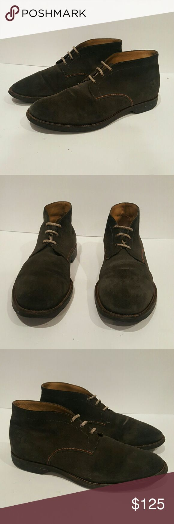 HUGO BOSS ORANGE GREY BOOTS SIZE 43 HUGO BOSS ORANGE LABEL MENS 43 GREY SUEDE CHUKKA BOOTS DESERT BOOTS LOTS OF LIFE LEFT EUC Hugo Boss Shoes Chukka Boots