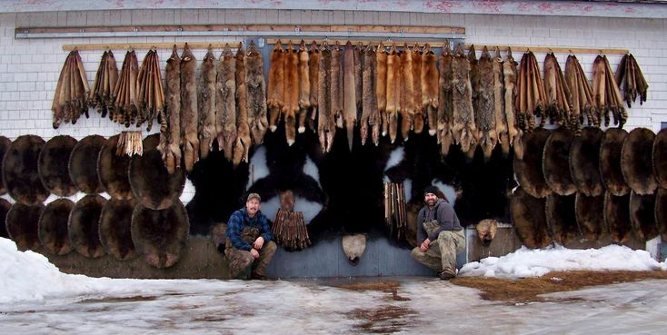 """""""I've been trapping for the past 3 years with help from my mentor and together we've put together 3 great seasons working the backwoods of Nova Scotia. I don't have a lot of traps to use, so the biggest thing I've learned is how to set a handful of good sets instead of a lot of average ones. Pictured from left to right, my mentor Todd Rafuse and myself Markus Kehoe. Hants County Nova Scotia."""" - Mark Kehoe"""