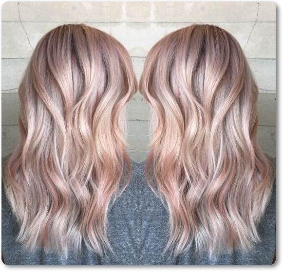 Unwiderstehliche Rose Gold Haarfarbe Sieht Aus
