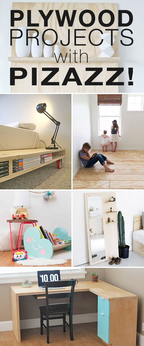 Plywood Projects with Pizazz! • Plywood is in! • Check out these cool and modern diy projects, tutorials and ideas!