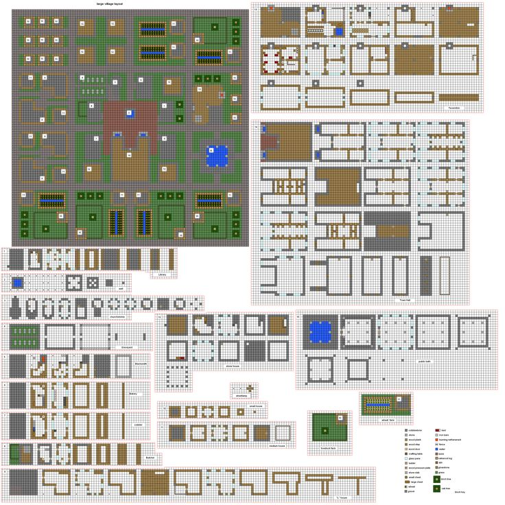 Minecraft Architecture Blueprints
