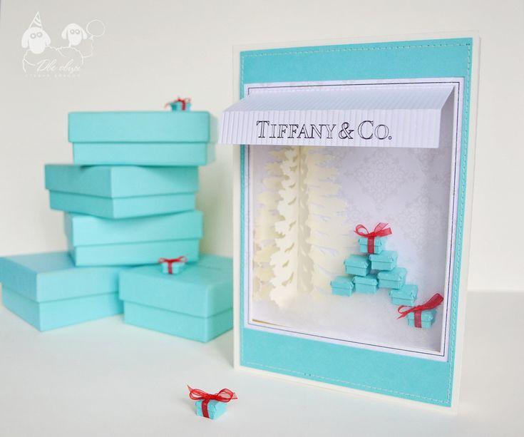 Новогодняя открытка Тиффани / New Year Tiffany card