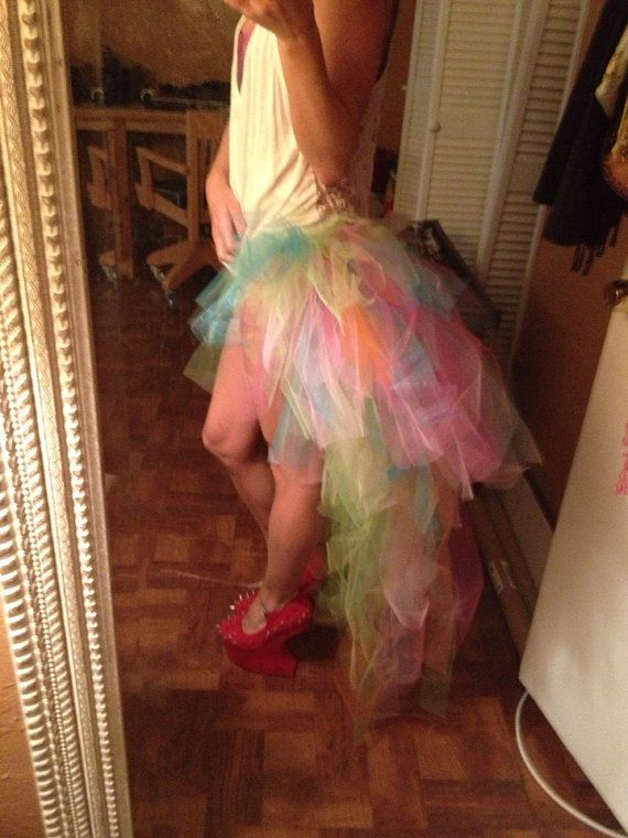Make this. 4th of july?  The Good Time TuTu Rainbow Bustle Train Rave Fairy by LittleMissSF