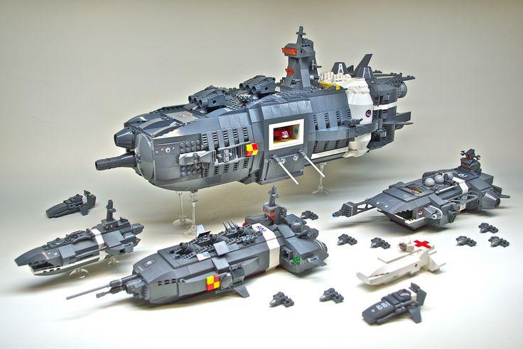 Lego spaceship battalion