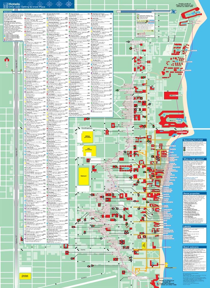 Playa Del Carmen Maps Map Make Sure To Get All 5 Of These For The
