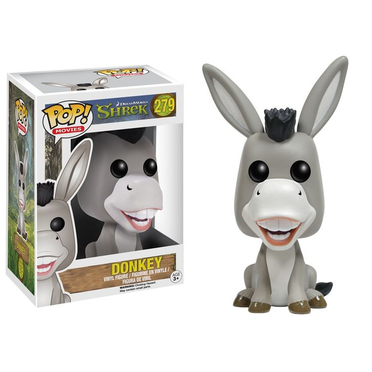 This is a Funko POP Vinyl Shrek Donkey Figure that is produced by the folks over at Funko. Donkey looks great in his Funko POP Vinyl form. The Shrek POP Vinyl's have been highly anticipated and it's g