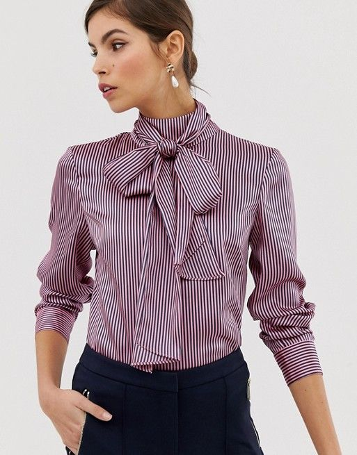 5cab05e61b458 Ted Baker Leynta pussybow striped blouse in 2019