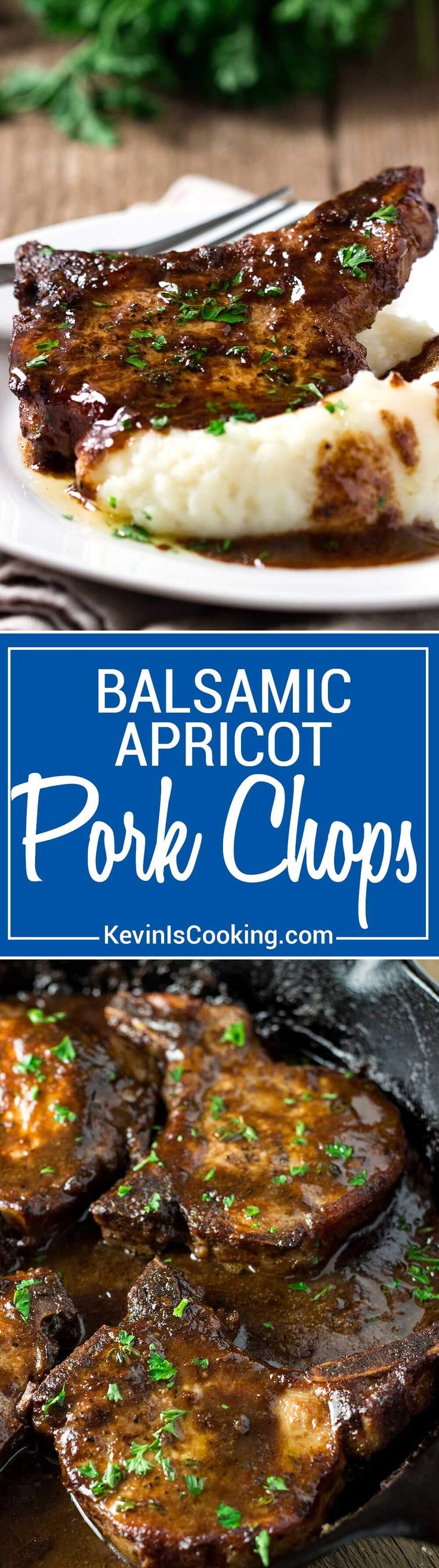 Super easy, super tasty, these Balsamic Apricot Pork Chops are on the ...