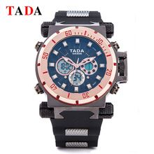 Tada Branded New watches Men Luxury Military Heavy Big Head Waterproof Sports Wristwatches Dual Time Digital Analog Quartz Watch(China (Mainland))