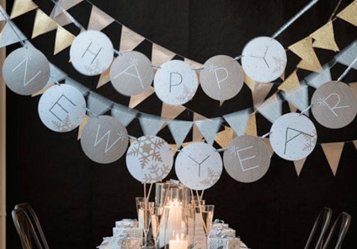 In deze blog heel veel inspiratie voor Oud en Nieuw feest versiering en decoratie tips. In o.a. goud, zilver, wit en zwart voor een stijlvolle jaarwisseling
