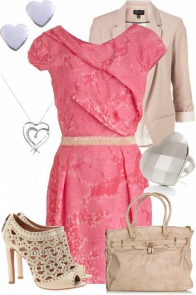 Girly pink and cream