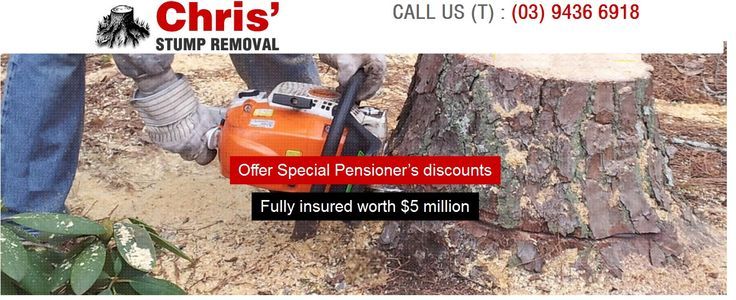 At Chris Stump Removal we are well equipped with machinery and workmanship to provide you effective solution for stump removals and stump grinding in Melbourne. Chris Stump Removal and be a perfect answer if you are looking for cost effective stump removals in Melbourne.  Address:-11 Greenway Dr, Mill Park VIC 3082  Phone: (03) 9436 6918