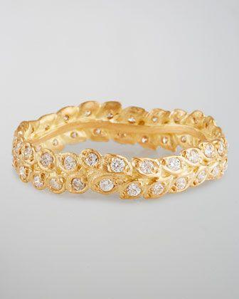 18k Gold Diamond Vine Ring by Jamie Wolf at Neiman Marcus.