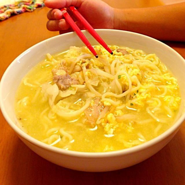 娘の - 8件のもぐもぐ - サッポロ一番塩ラーメン by tsutsuyan