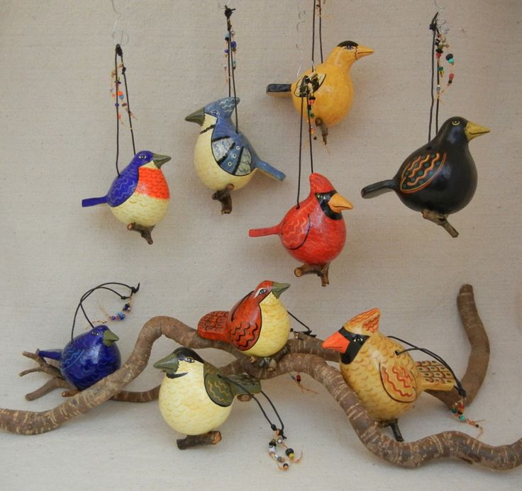 painted gourd ideas | The Uncommon Gourd... Gourds, really? Clay tails?