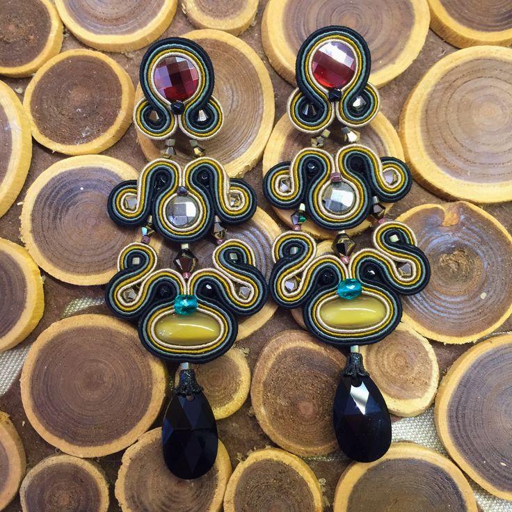 "Gotham, chandelier earrings with a unique ""Dori twist""... #DoriCsengeri #chandelier #earrings #designermaker"
