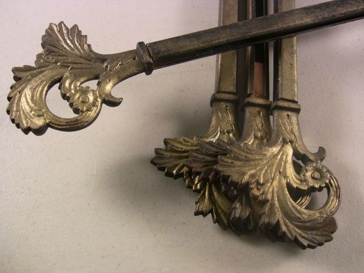 Antique Curtain Rods Swing Arm Curtain Rod Decorative Cast Iron Curtain Rods #Victorian #Unknown