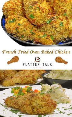 French Fried Onion Ring Baked Chicken Recipe - Platter Talk