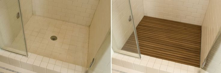 Cover An Ugly Tile Shower Floor With Teak Master Bedroom Pinterest Cleanses Teak And The