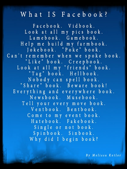 A poem about the Facebook experience.  All Rights Reserved.