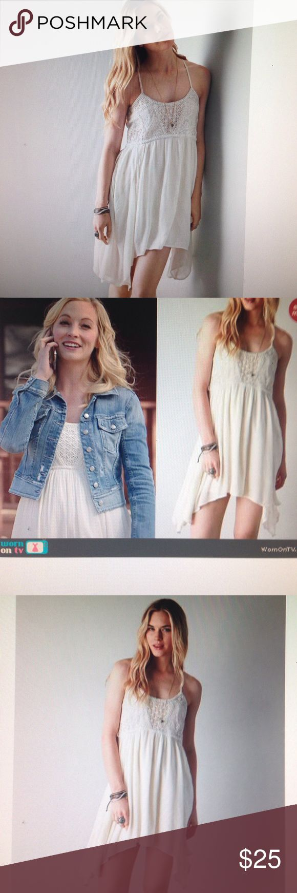 """AEO baby doll dress, worn once looks new, size 4 Practically new AEO baby doll dress in size 4: wore only for couple hours for photo shoot. Measurements chest=34"""", length =28"""". American Eagle Outfitters Dresses"""
