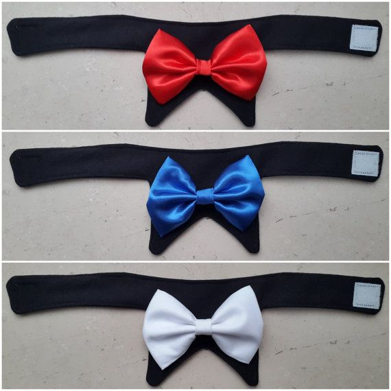 Cat Bow Tie Dog Bow Tie Cat Wedding Pet Bowtie Collar by PinkBau