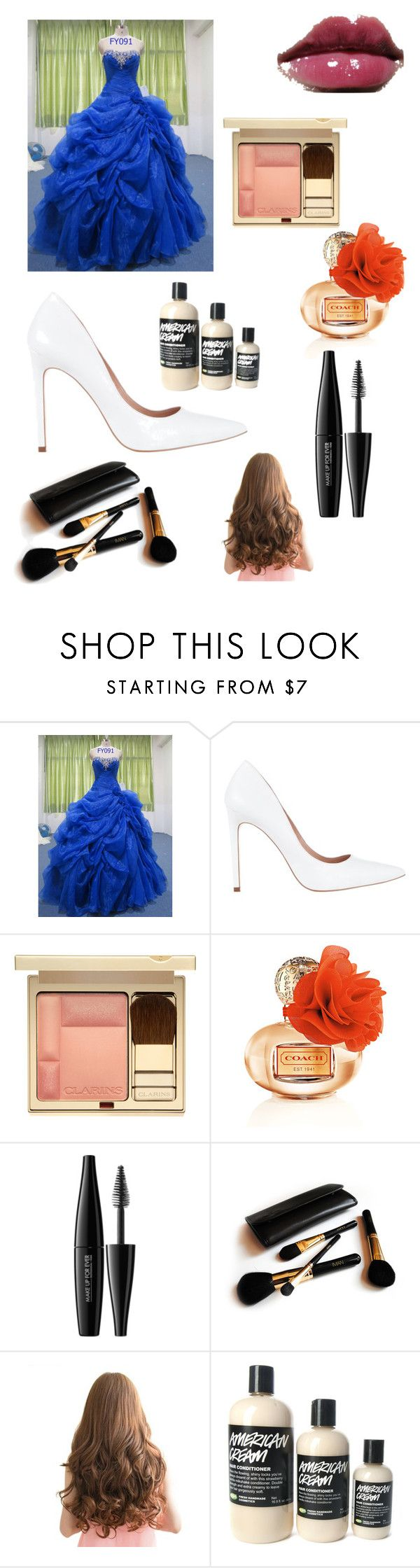 """My Quincera"" by savvvyfashionista ❤ liked on Polyvore featuring Diavolina, Shiseido, MAKE UP FOR EVER and Iman"