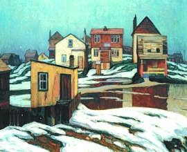 Lawren Harris -  Houses In Winter, limited edition paper