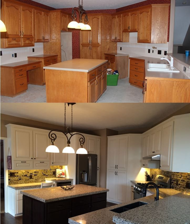 Kitchen Cabinet Refacing Nj: What A #transformation! #Kitchen #KitchenRemodel #GRanite