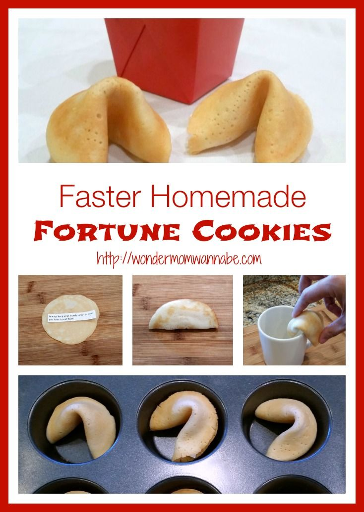 Faster Homemade Fortune Cookies - Make homemade cookies in half the time with this variation on the tradition recipe from Wondermom Wannabe.