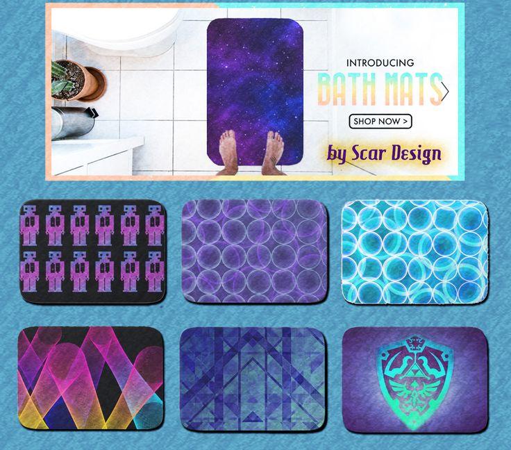 Embellish your Bathroom with Beautiful  New  Bath Mats by Scar Design.  #bathroom #bath #bathmat #bathmats #homedecor #homegifts #housegifts #coolweddinggifts #coolgifts #geek #zelda #modern #moderndecoration #Society6 #Bath #Mats #bathmats #home #decor #bathroom #modernhouse #society6 #scardesign #enhance
