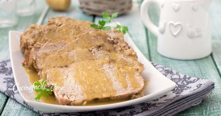 Arrosto con crema di patate secondo favoloso facilissimo che cuoce da solo