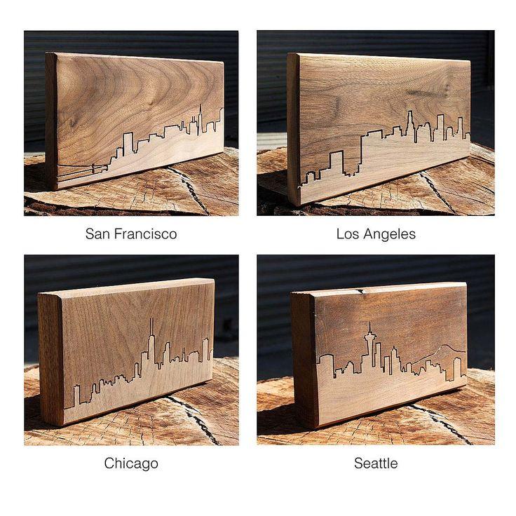 City Skyline Wooden Routing | California, San Francisco, New York City, Urban, Contemporary, Modern, Wall Decor | UncommonGoods