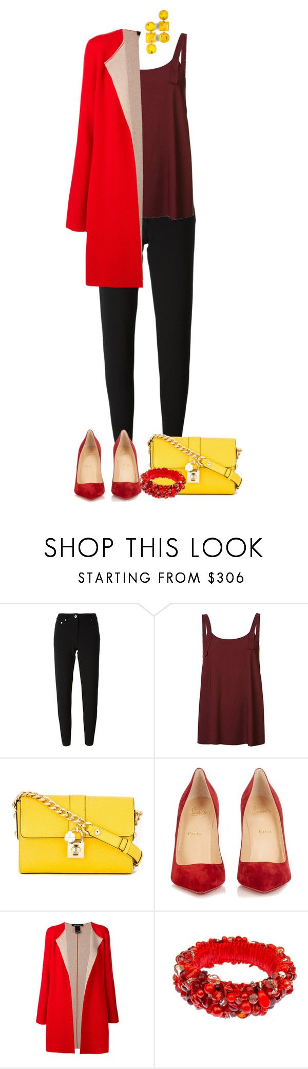 """Untitled #152"" by aria-kam ❤ liked on Polyvore featuring Moschino, Helmut Lang, Dolce&Gabbana, Christian Louboutin and IRIS VON ARNIM"