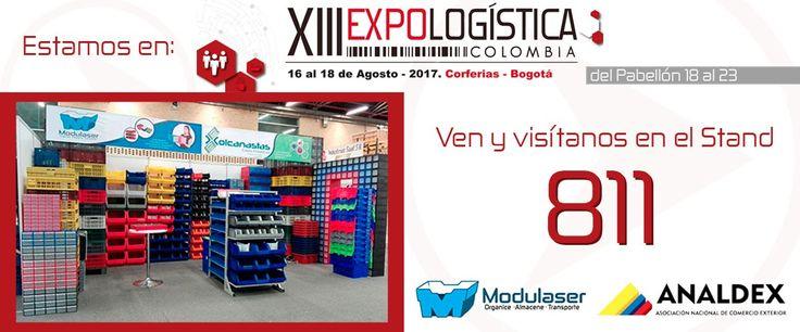 #Modulaser y #Colcanastas presentes en #Expologistica -- Somos expertos en #Almacenamiento, #Organización, #Transporte y #Logistica -- Te esperamos!