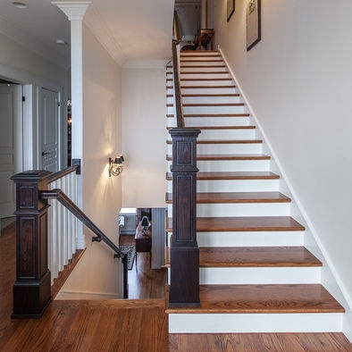 Best Dark Railing Light Stair Tread For The Home Pinterest 400 x 300