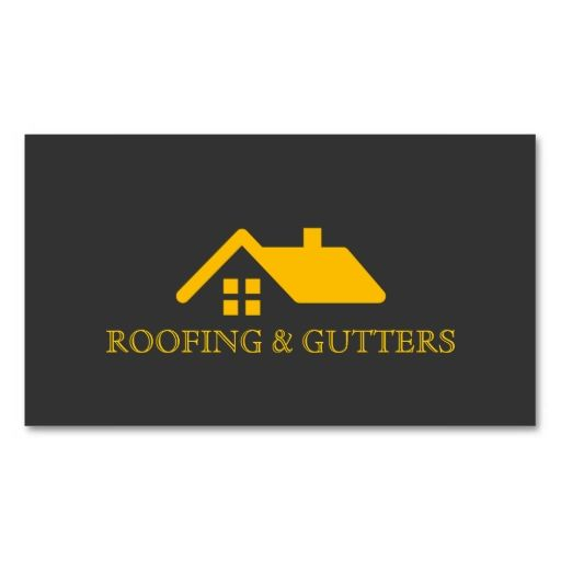 Roofing gutters construction business card i love this for Business cards roofing design